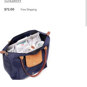 Handbags - Tote savvy diaper bag insert